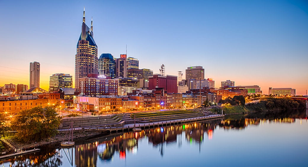 100 Free Attractions in the US - Nashville Tennessee Skyline