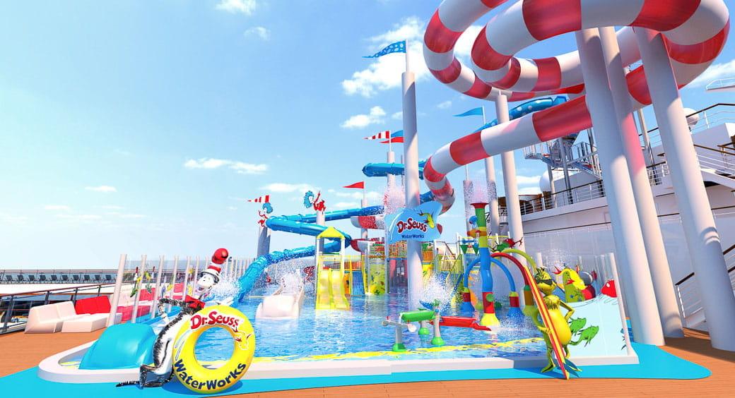 6 New Carnival Cruises Ships - Carnival Horizon Waterworks