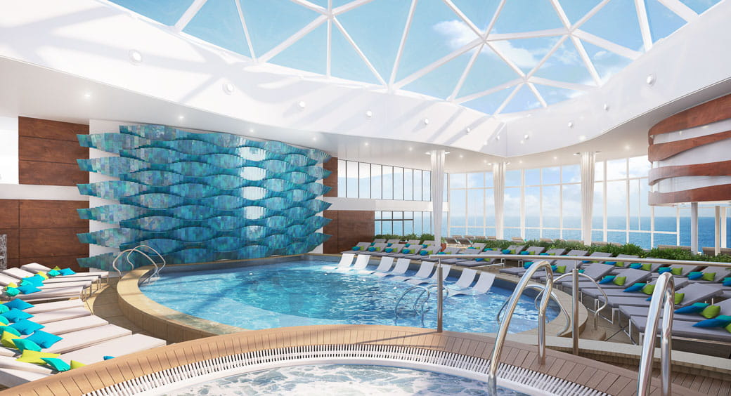 6 New Carnival Cruises Ships - Celebrity Edge Solarium