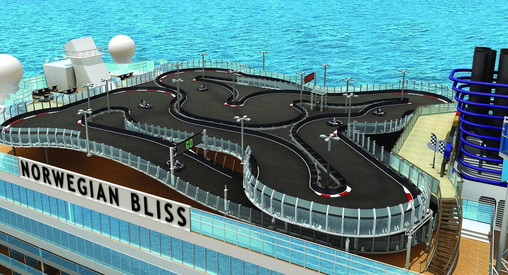 6 New Carnival Cruises Ships - Norwegian Bliss Go Karts