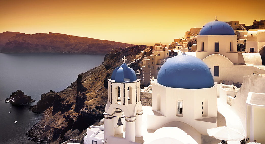 Affordable European Vacations - Rooftops of Santorini