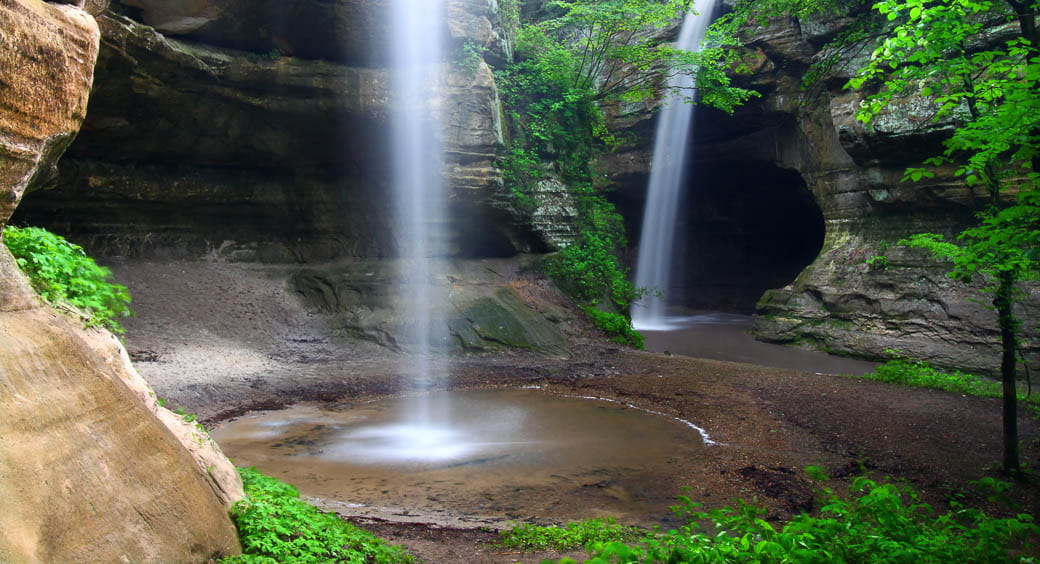 Houseboat Vacation Spots - Starved Rock Waterfall Illinois