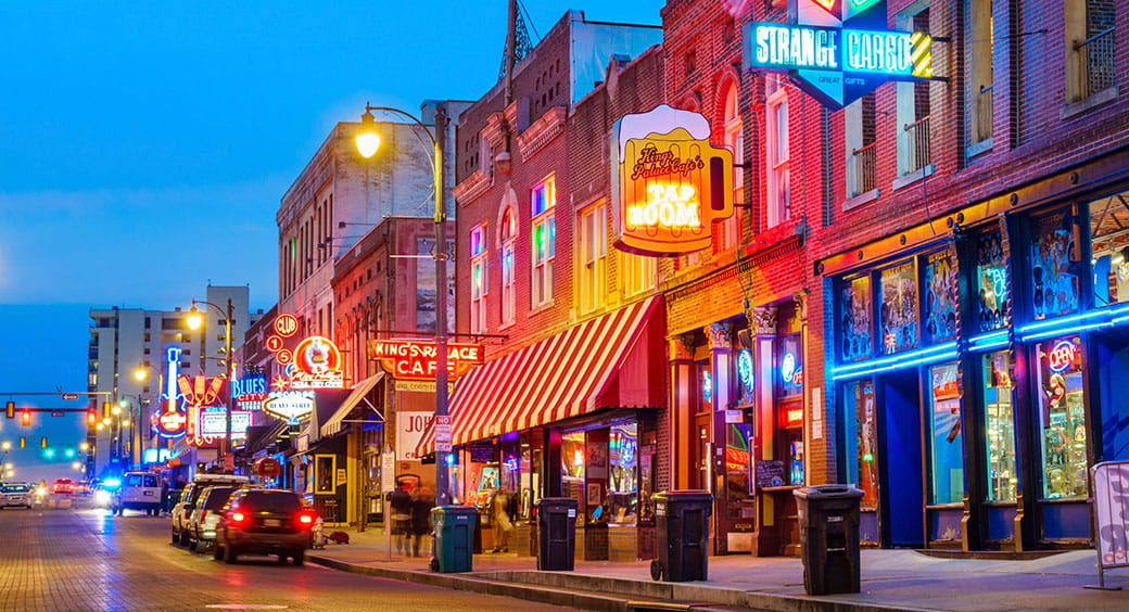 Best U.S. Cities for Affordable Vacations - Memphis Tennessee
