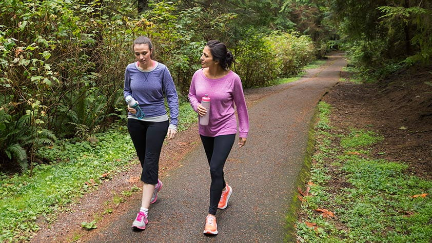 Two Women Walking for Exercise