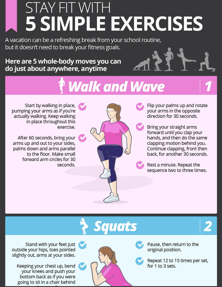 Stay Fit on Vacation with 5 Simple Exercises   NEA Member