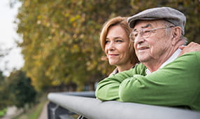 Senior Couple Enjoying Scenic View