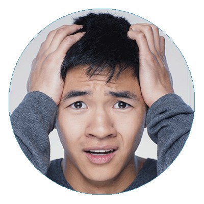 5 Money Mistakes Educators Need to Avoid - photo of concerned young man with both hands grasping the his forehead