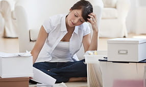 Woman Organizing Financial Papers