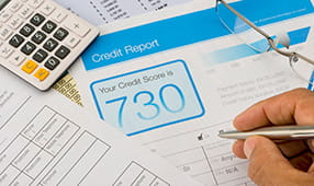 Close Up of Credit Report