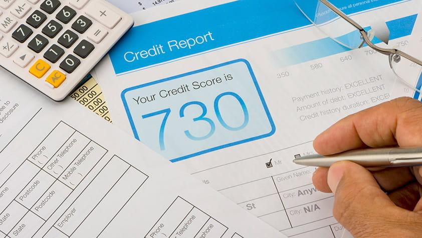 Close Up of Credit Report