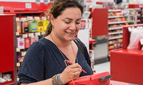 Woman Checking Out at Target