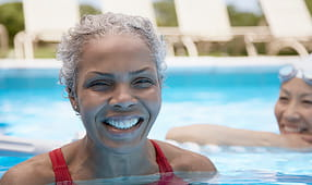 Elder women in swimming pool