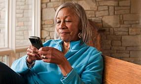 Senior African American Woman on Smartphone