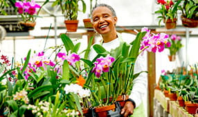 Senior Woman in Flower Shop