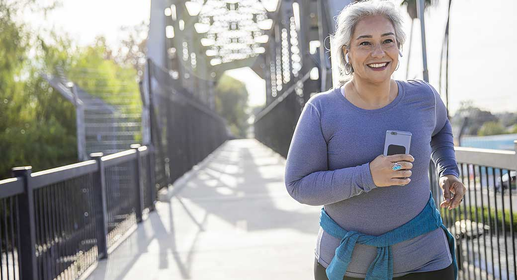 Woman Jogging Outside for Her New Year's Fitness Resolution