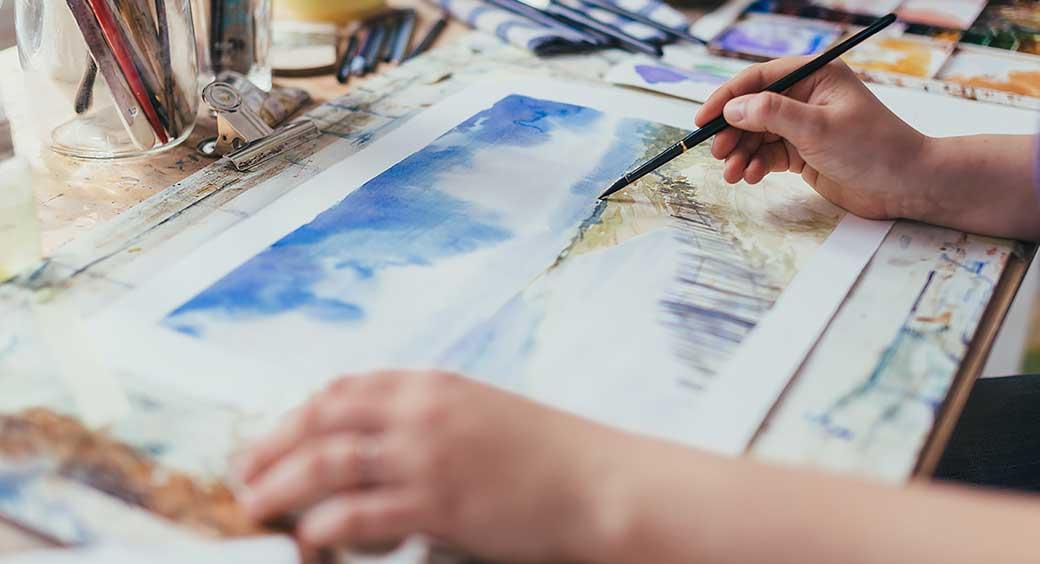 Magazines for Quarantine Hobbies - Watercolor Painting