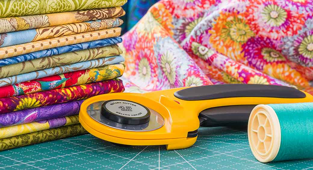 Magazines for Quarantine Hobbies - Colorful Fabric and Cutting Tool
