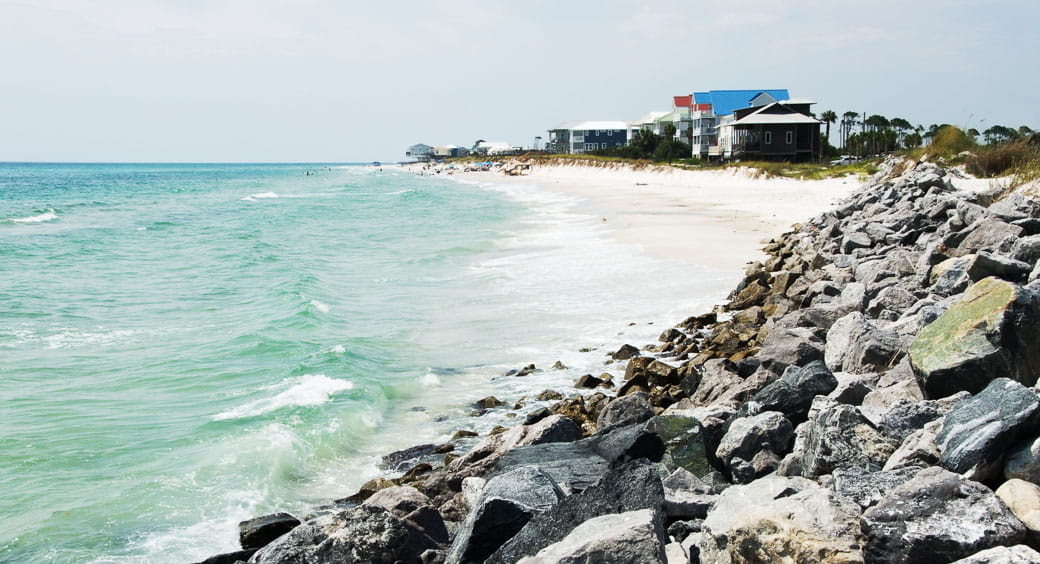 Florida beach at Cape San Blas in Port St. Joe
