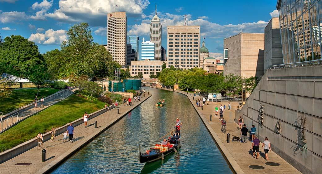 Gondola on the Indianapolis canal
