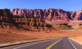 Highway through the Painted Desert in Arizona