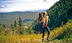 Woman on Hike