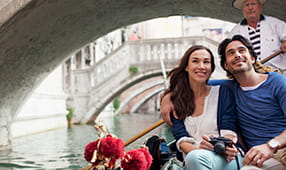 Couple Enjoying Gondola Ride