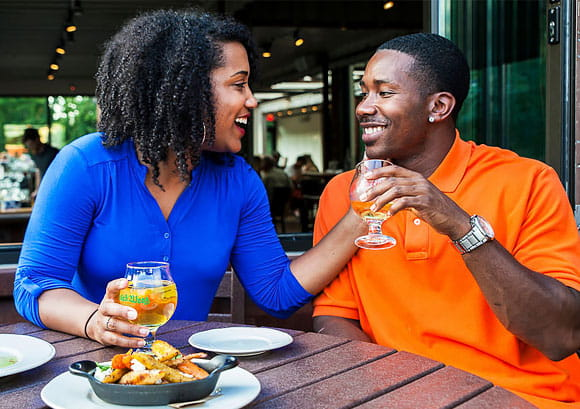 Couple Dining Out in Asheville, NC