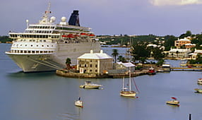 Luxury Cruise Liner at Port