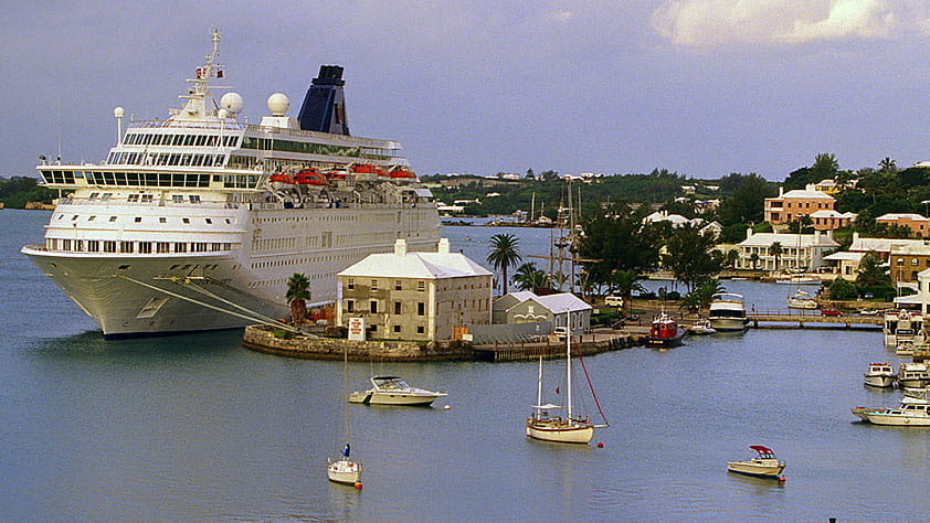 Cruise ship in port, St. George's, Bermuda