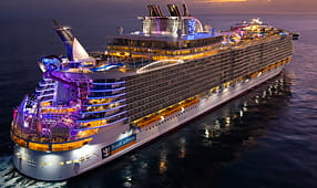 Royal Caribbean Cruise Ship at Sunset