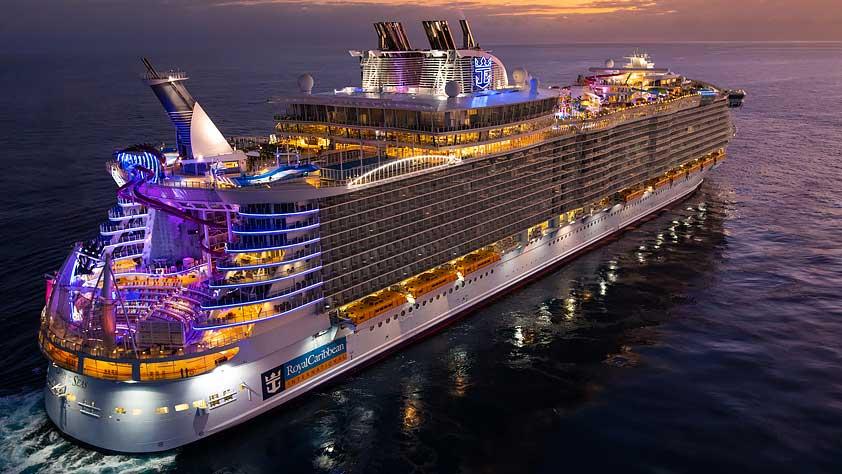 Royal Caribbean Cruise Ship at Sunset