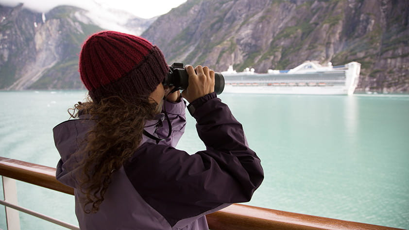 Woman on Arctic Cruise