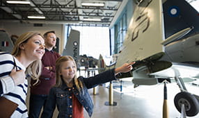 Family at Aviation Museum