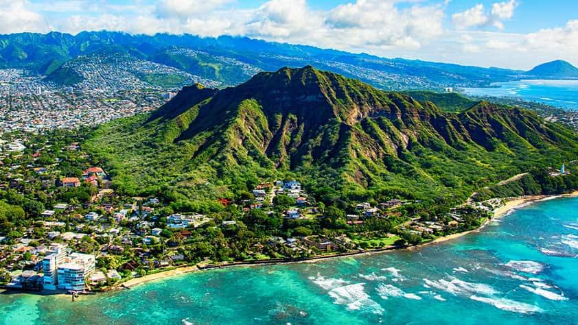 Meet the Winner of the NEA Dream Vacation Sweepstakes - Aerial Shot of Diamond Head State Park, Honolulu, Hawaii