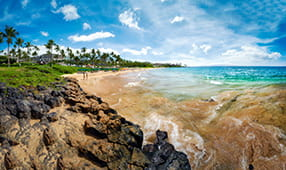 Wailea Beach on the southwest shore of Maui, Hawaii
