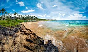 Wailea Beach on the southwest shore of Maui, Hawaii