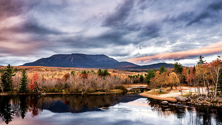View of Mount Katahdin in Maine