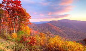 Sunrise in Autumn at Shenandoah National Park