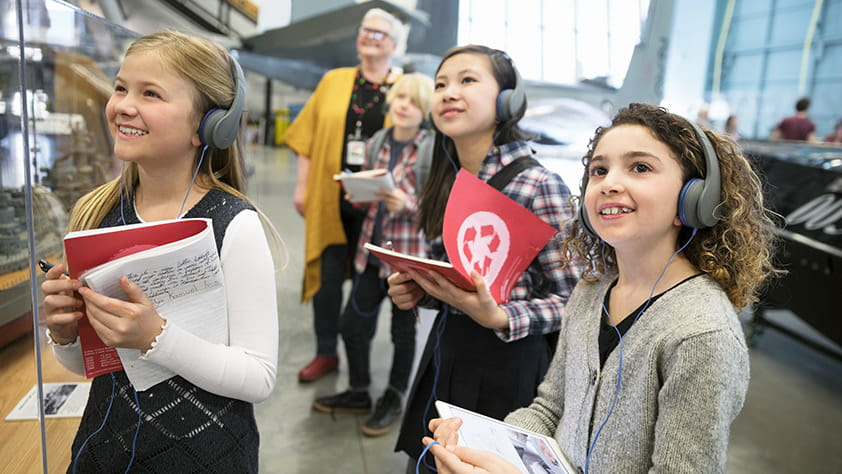 Students Enjoying Aviation Museum
