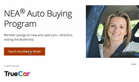 Image of the NEA Auto Buying Program page on neamb.com