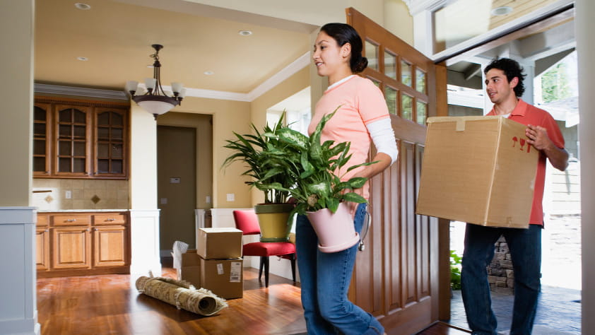 Couple Moving in Home
