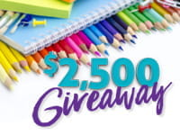 $2,500 Giveaway