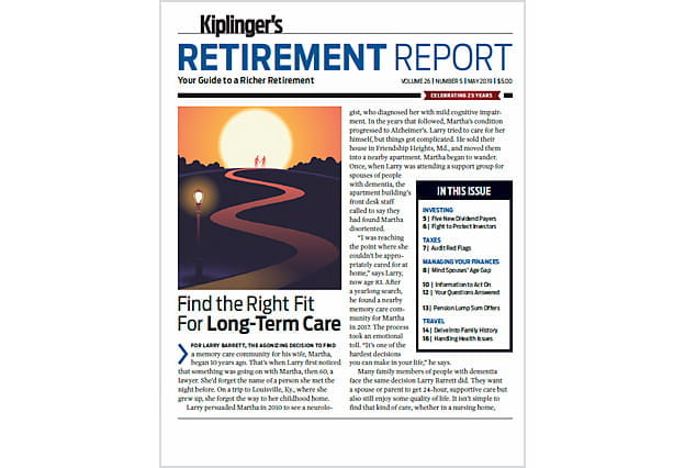 Cover of the May 2019 Kiplinger's Retirement Report