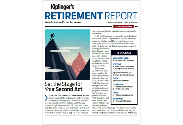 Cover of the July 2019 Kiplinger's Retirement Report