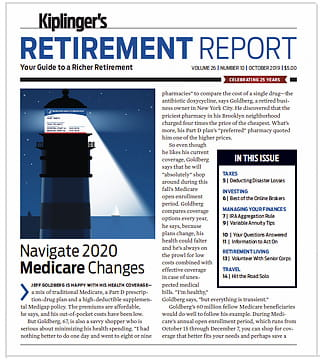 Cover of the October 2019 Kiplinger's Retirement Report