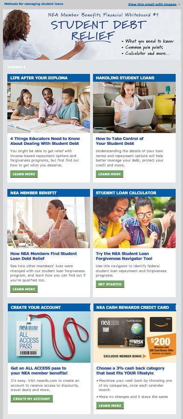 Sample of the NEA Financial Whiteboard Newsletter