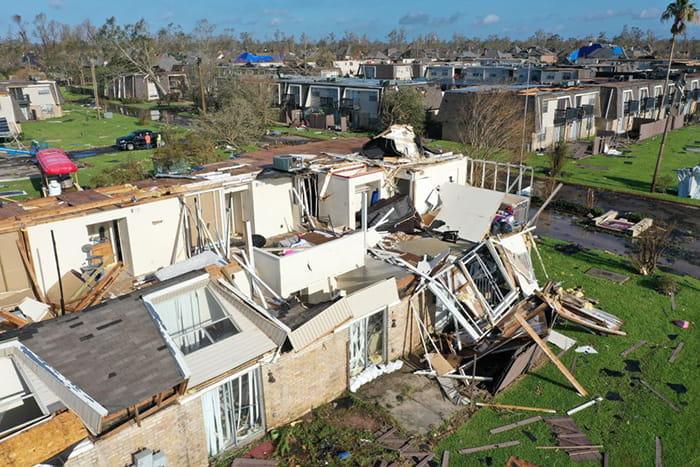 Devastation from Hurricane Laura August 2020