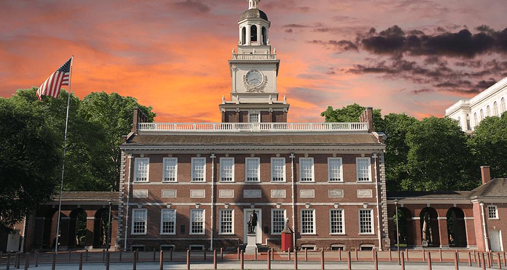 Independence Hall Philadelphia Sunset