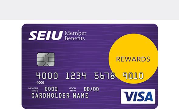 Tarjeta SEIU Visa Platinum Edition con Recompensas En Efectivo