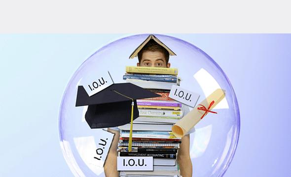 Estudiante luchando con préstamos estudiantiles